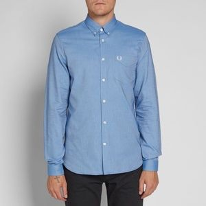 FRED PERRY CLASSIC OXFORD SHIRT MID BLUE
